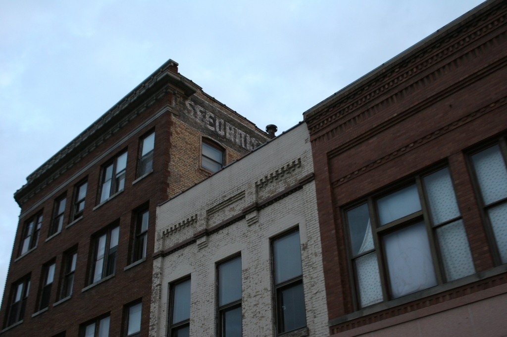 Historic buildings define the downtown area.
