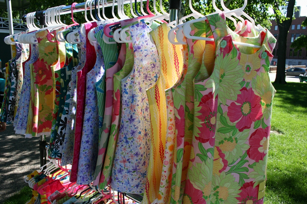 Sweet little girls' dresses stitched by Judy Bliss.