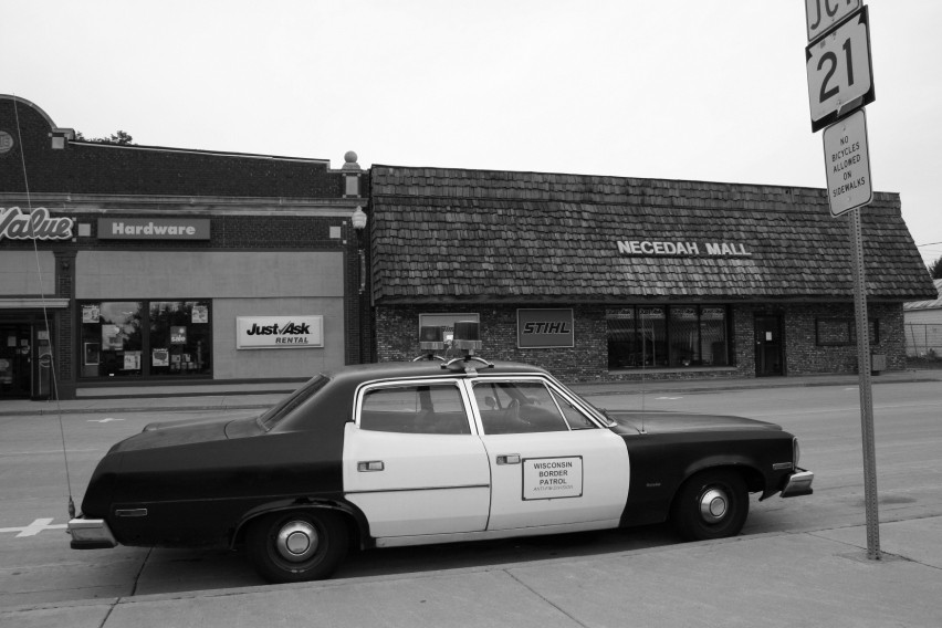 Necedah, close-up patrol car