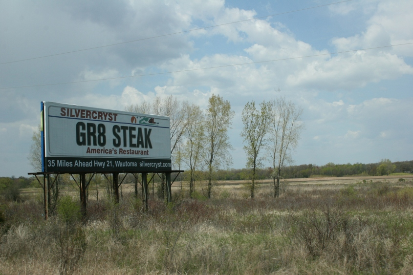 Wisconsin signs, steak
