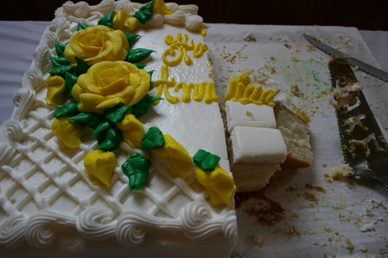 Cake to celebrate 50 years of marriage.