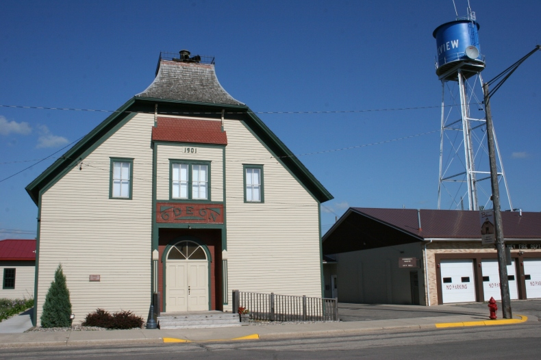 Historic Odeon Hall in Belview.