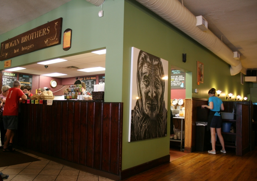 Hogan Brothers Acoustic Cafe sells original art showcased on its walls, plus serves up some great soup and sandwiches.