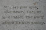 Art, sidewalk poetryNorthfield