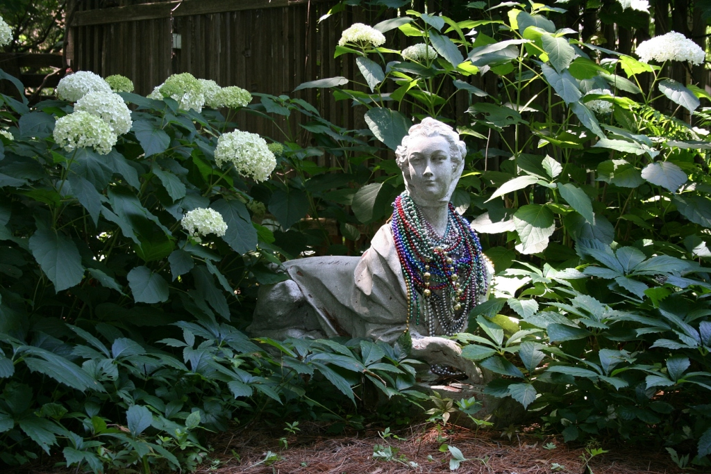"""On a second focused look, I saw this sculpture is part woman, part cat, """"The Cat Lady."""""""