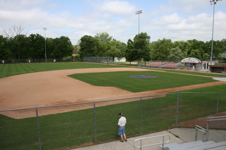 Memorial Park Baseball Field, home to the Dundas Dukes.