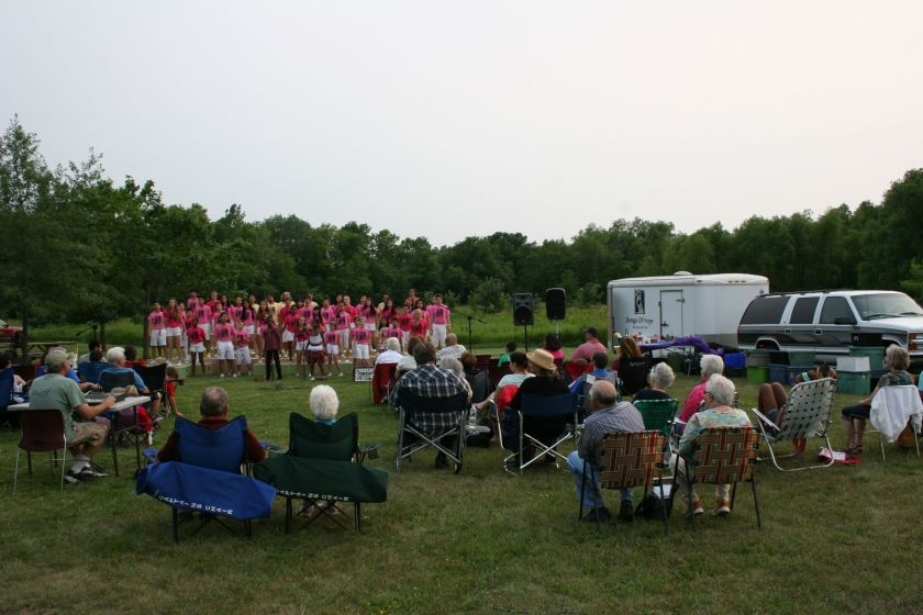 On a perfect summer night, Songs of Hope performed an outdoor concert at River Bend Nature Center in Faribault.
