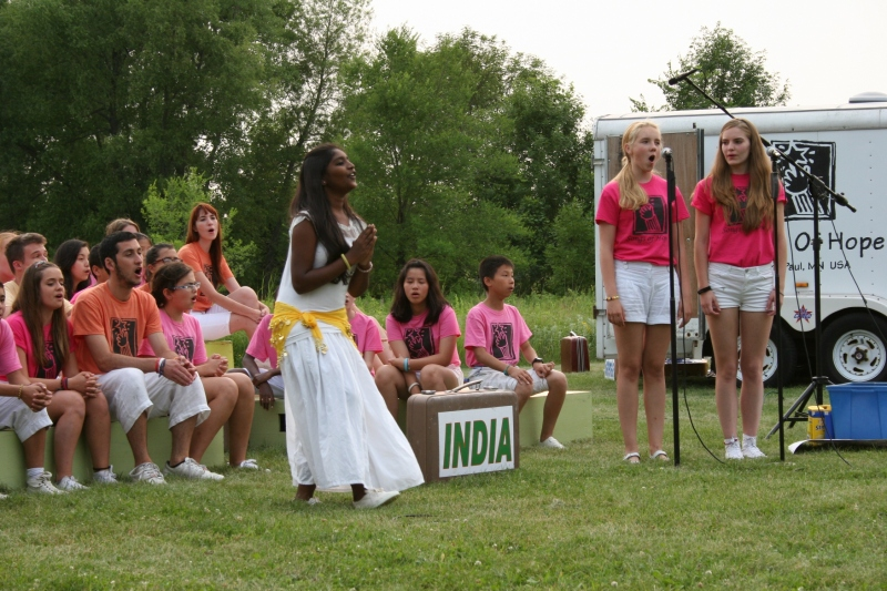 Songs of Hope performers present a selection from India.