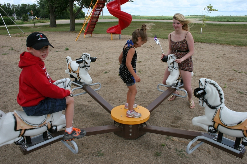 The playground proves a popular area for elementary-aged through high school.