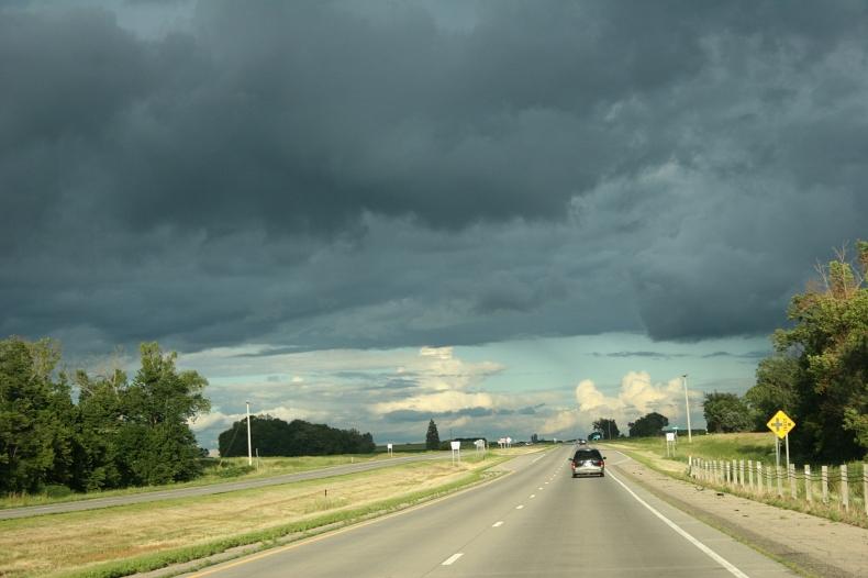 Traveling U.S. Highway 14 near Eagle Lake.