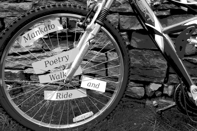 A graphic I created for Mankato Poetry Walk and Ride.