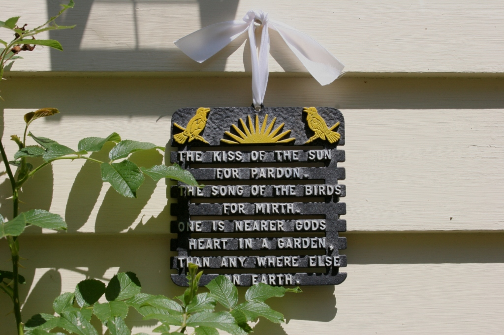 Love the message on this plaque.