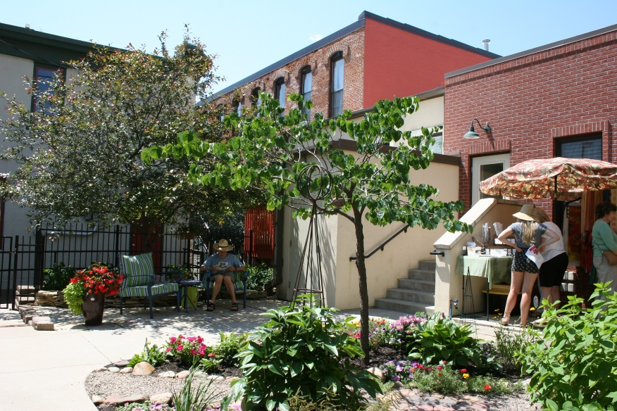 An overview of the downtown Opera House garden.