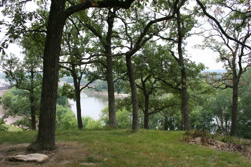 Sibley Park rests at the confluence of the Blue Earth and Minnesota Rivers.