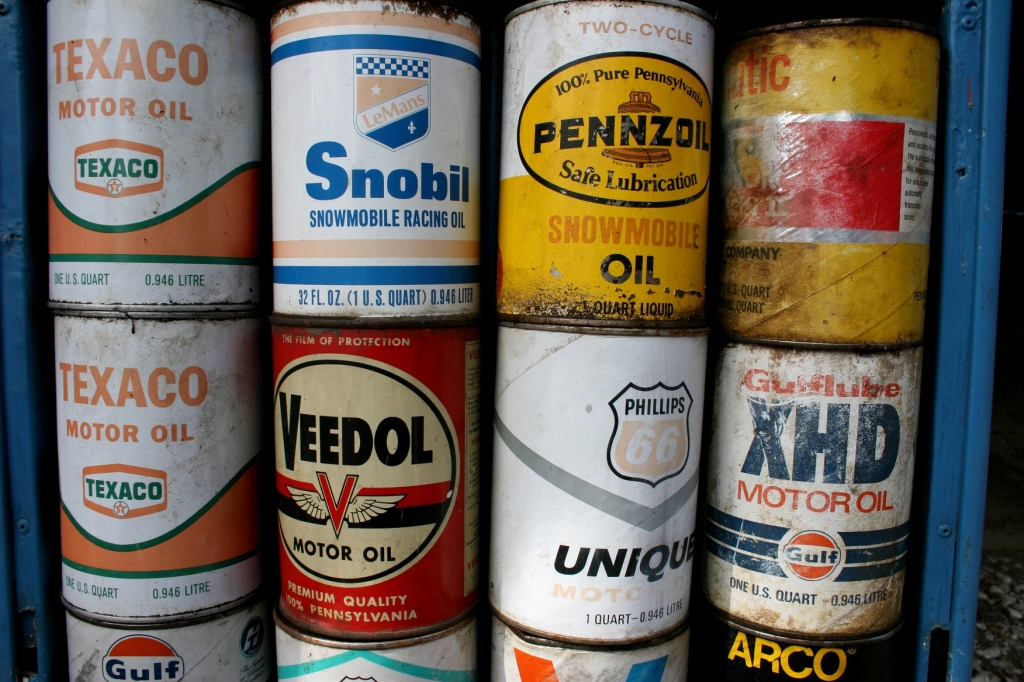 Bing's collection even includes motor oil cans.