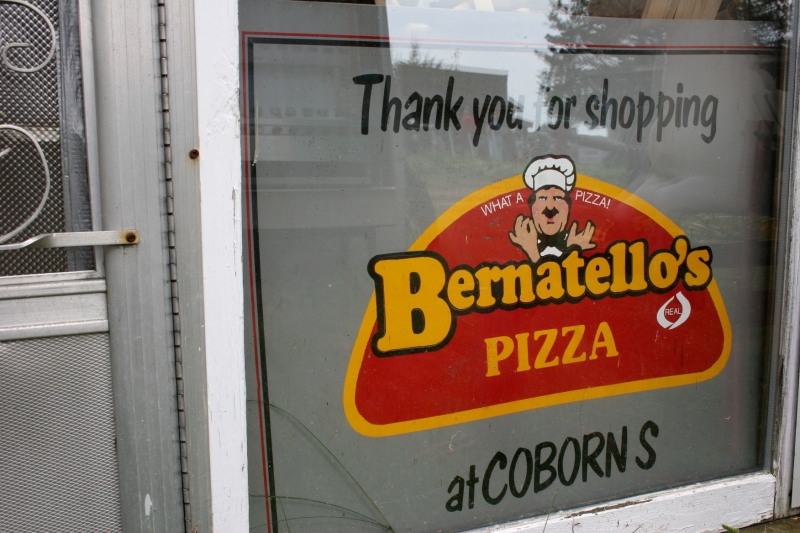 Locals will appreciate this pizza sign from a regional grocery store.
