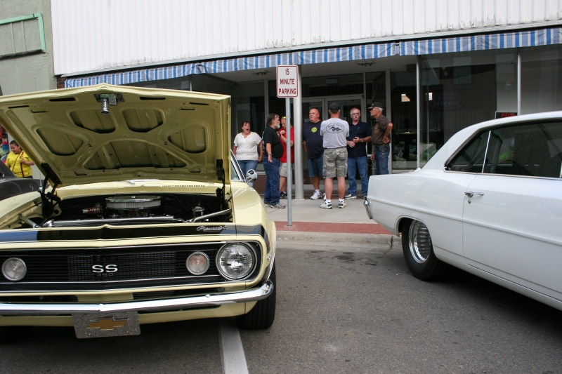 Hanging out at Faribault Car Cruise Night.