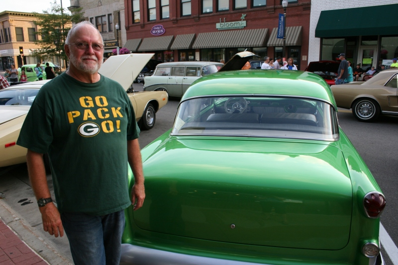 The proud Packers fan who bought this car already painted green. Perfect for this Minnesotan with a daughter living in Milwaukee and encouraging her dad's Packers mania.