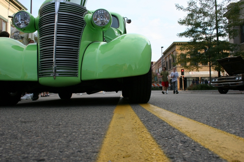 I set my camera on the pavement for this low down perspective shot.
