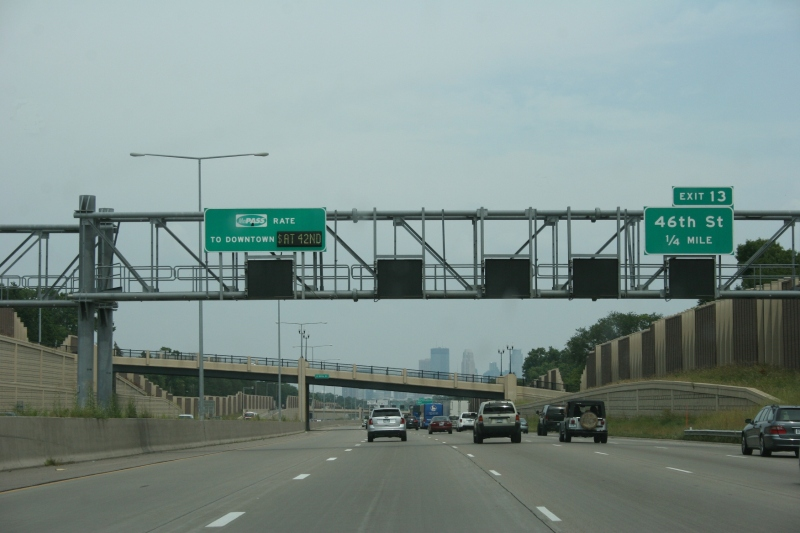 Approaching downtown Minneapolis. Growing up on a southwestern Minnesota dairy and crop farm, I would travel with my parents and siblings once a year to visit relatives in Minneapolis. We got off at the 46th Street exit.