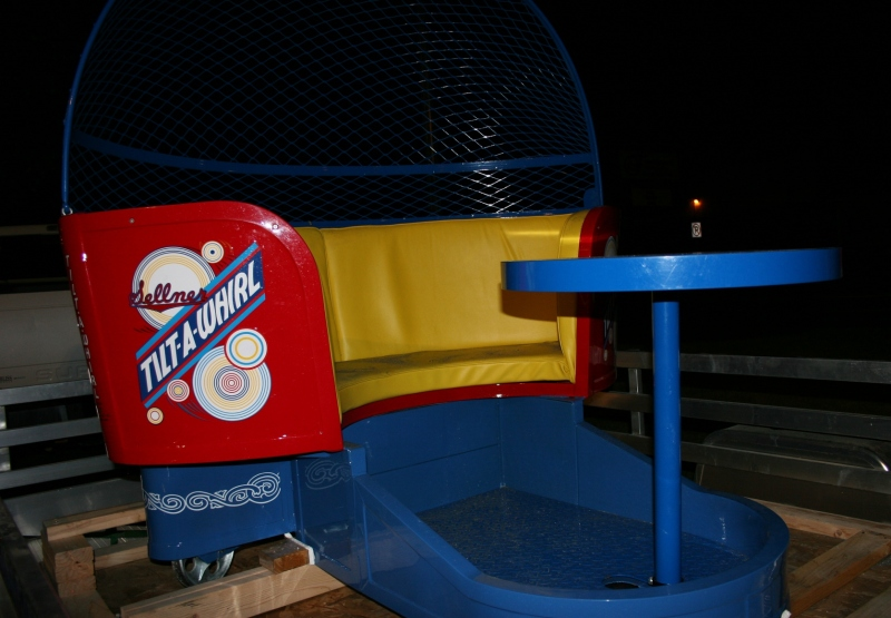 Sellner Manufacturing, as noted on the car, invented the Tilt-A-Whirl.