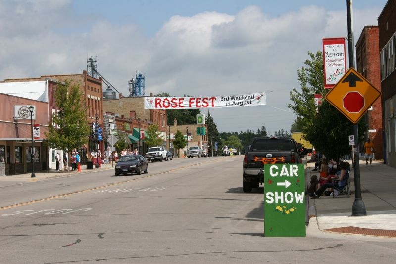 Kenyon, Minnesota, welcomes visitors to its recent Rose Fest.