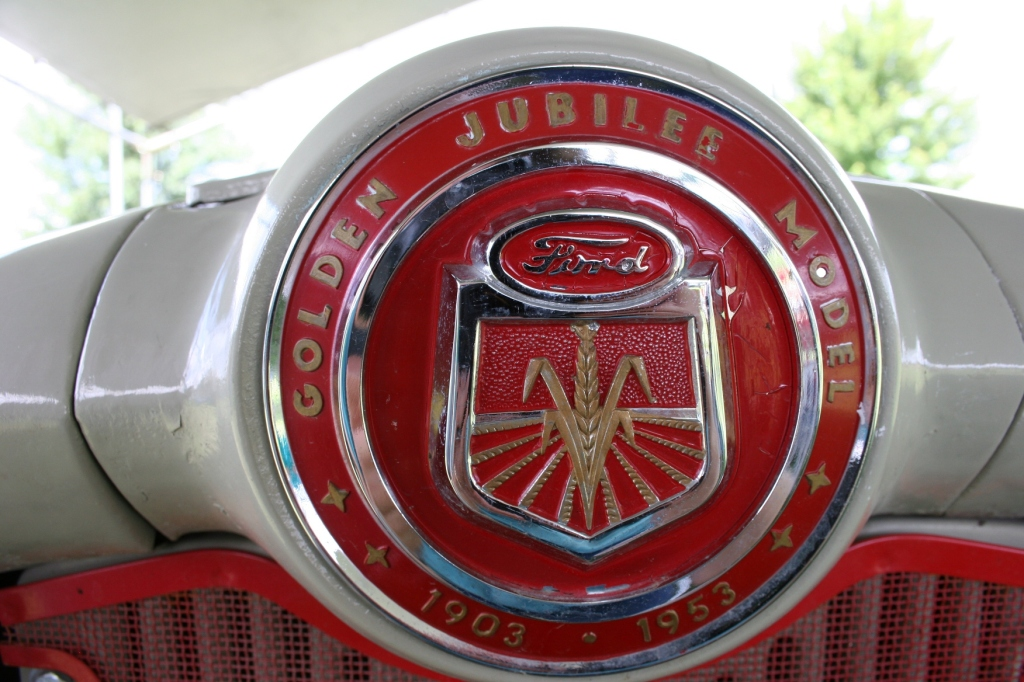 You can buy a chance to win a Golden Jubilee 1950s Ford being raffled by the Rice County Steam & Gas Engines, Inc.