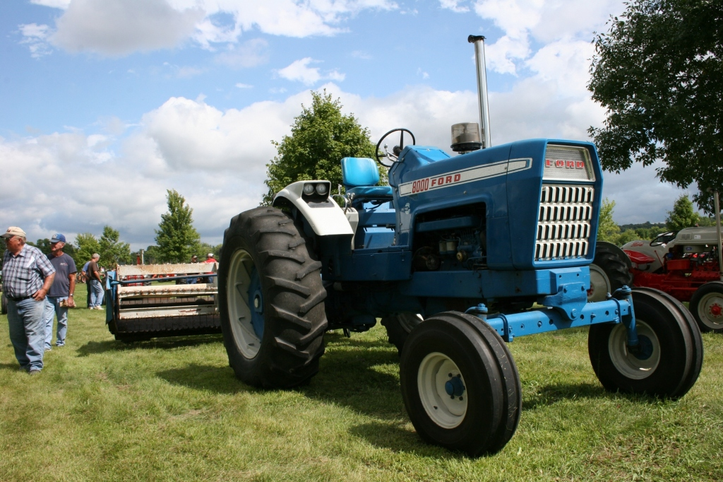 Ford tractors, including this one from Westbrook Ag Power (where my oldest brother is co-owner)