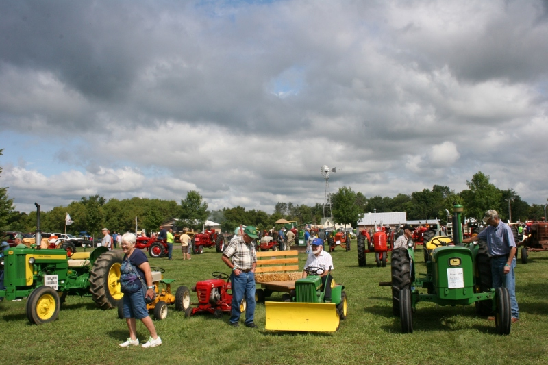 A snippet of the tractors displayed at the show.