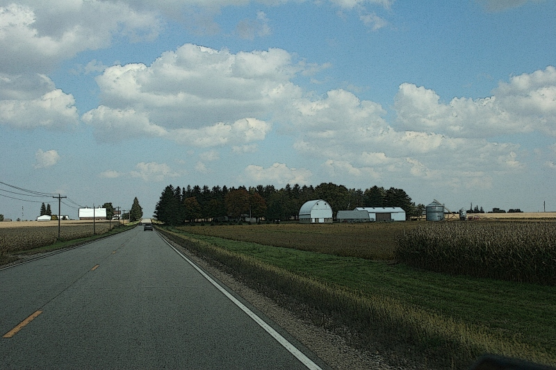 Autumn reveals herself in fields ripening along Rice County Road 24 between Faribault and Kenyon, Minnesota.