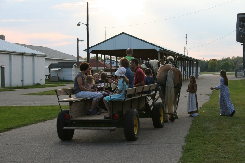 Wagon rides around the Rice County Fairgrounds proved popular.