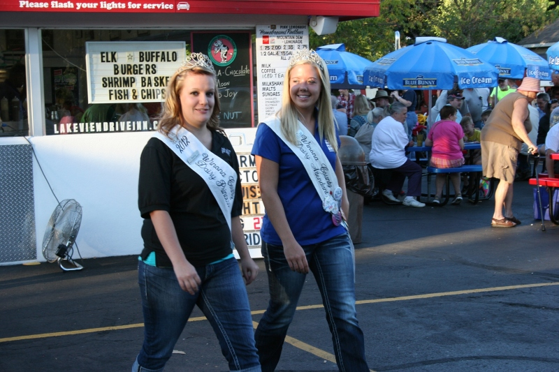 Even the Winona County dairy princesses showed up for Farm Tractor Night.
