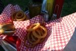 Lakeview, onion rings andburger