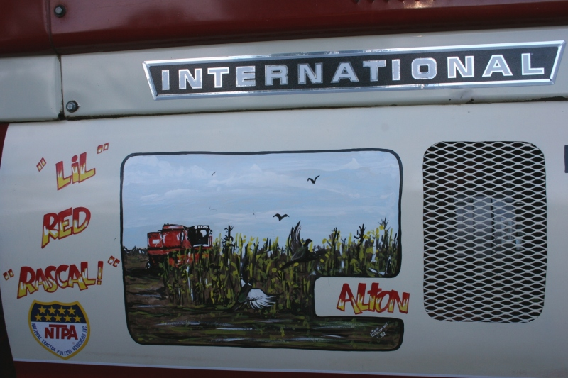 Loved the original art on this International tractor.