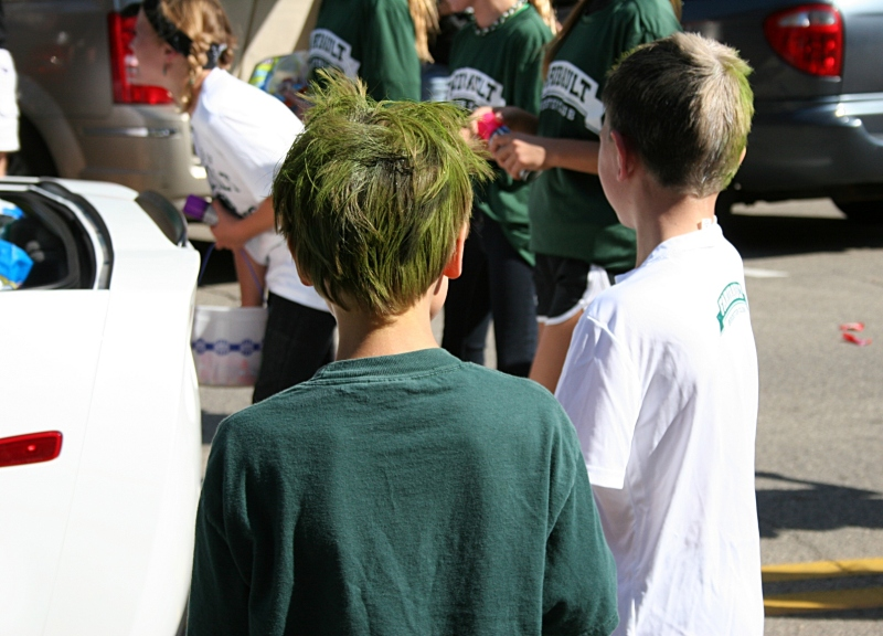 Lots of green hair...