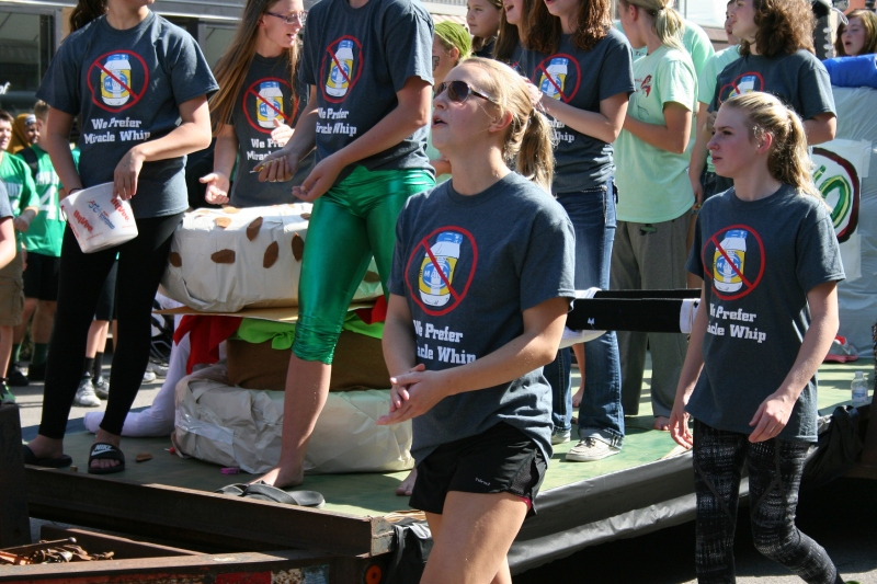 My favorite float featured the theme of preferring Miracle Whip over Mayo, as in the Faribault Falcon's opponent, Rochester Mayo High School.