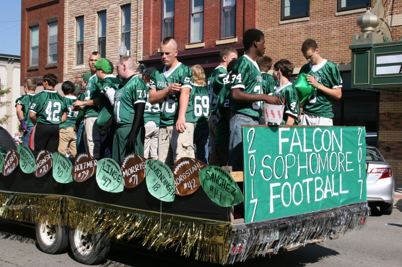 Sophomore football players.
