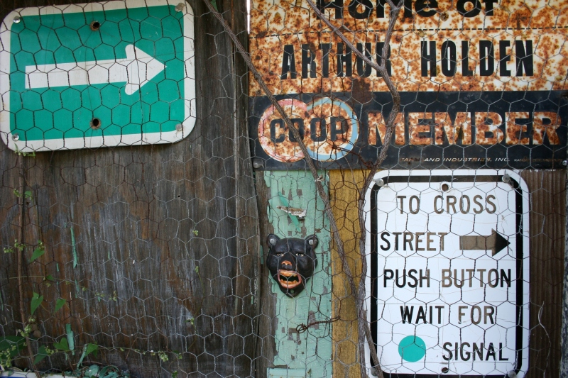 Even old signage proves artful.