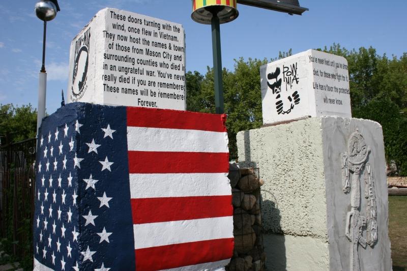 The garden even includes a veterans' memorial.