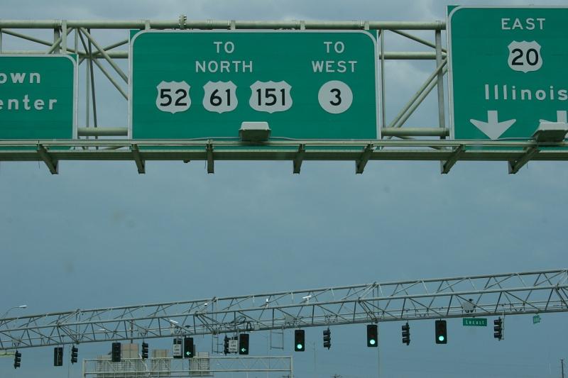 Stoplights in Dubuque, green