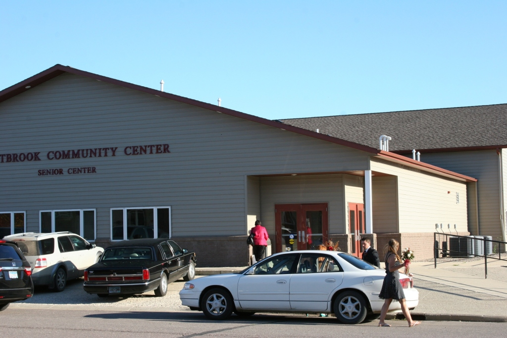 The reception was held at the community center in the bride and groom's hometown of Westbrook.