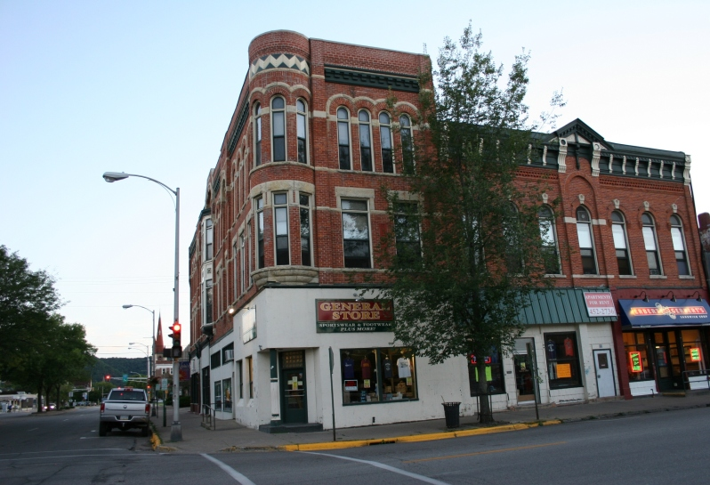 A portion of downtown Winona with the General Store anchoring a corner.