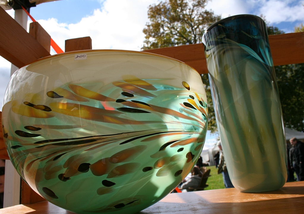 Hand blown glass by Steve Claypatch of Ascension Art, Minneapolis.