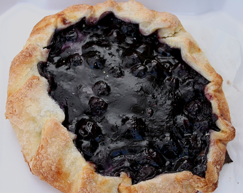 A blueberry tart from Ruthie's Kitchen.