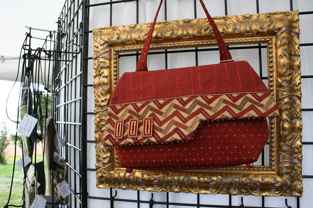 Mariella TerBeest-Schladweiler of Preston has been crafting handbags at Helen's Daughters Handbags since 1989.
