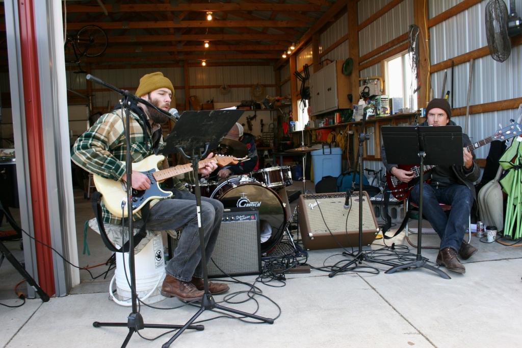 Local band, Muchos Machos, entertains.