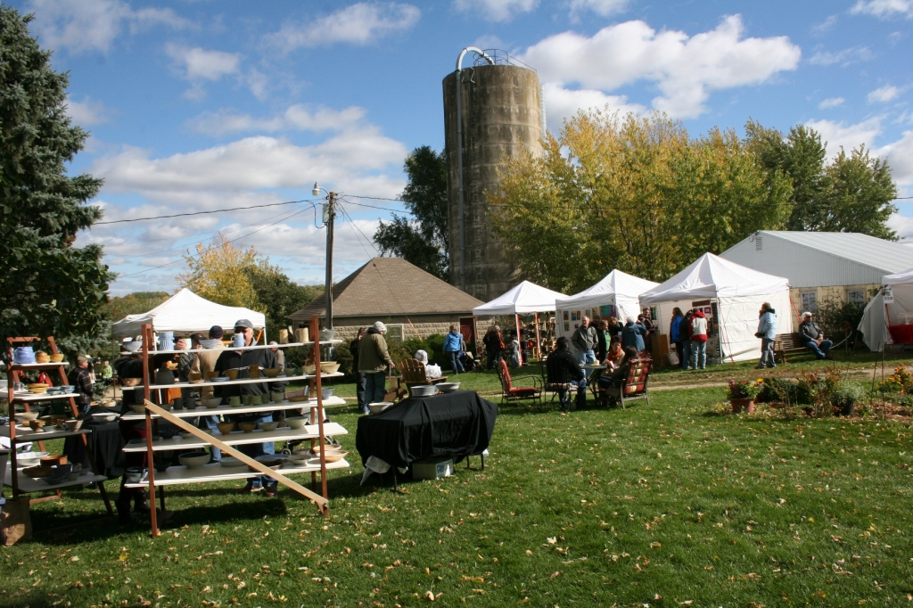 An overview of the craft fair.