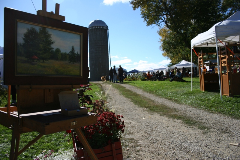 This Sogn Valley farm site presents a beautiful rural setting for the craft fair.