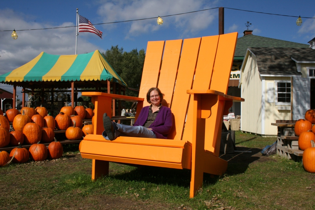 Stop at a roadside stand or a farmers' market for pumpkins, apples, squash and other Minnesota-grown produce. That's me at The Country Store of Pepin (Wisconsin) photographed earlier this week by my husband, Randy.