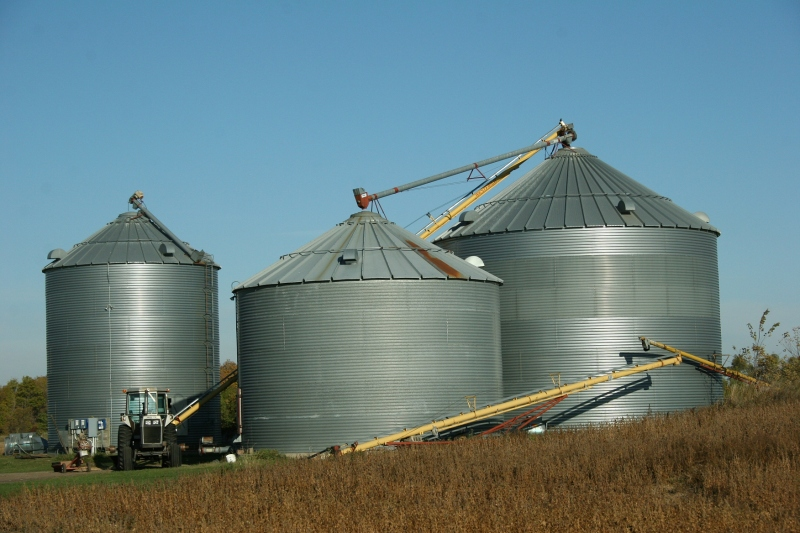 Bins likely have been emptied for the new crop.